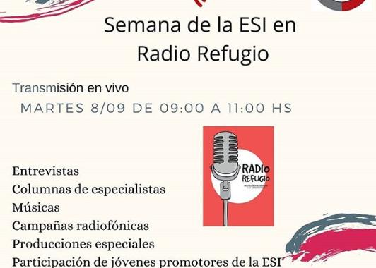 Folleto de las actividad de la ESI en Radio Refugio